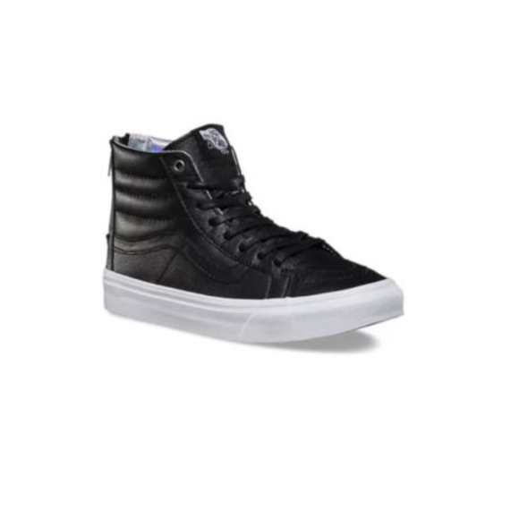 bcc2ea0192 Vans Sk8 Hi Slim Zip Hologram Black True Shoes